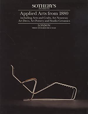 Sothebys March 1988 Applied Arts from 1880: Sothebys
