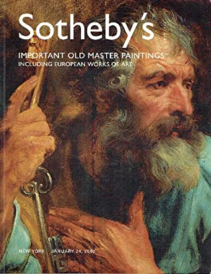 Sothebys January 2002 Important Old Master Paintings Volume III