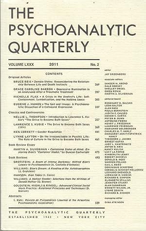 The Psychoanalytic Quarterly - Volume LXXX -: Bruce Reis, Grace