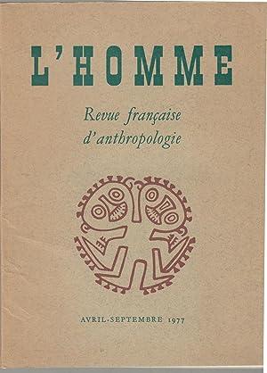 L'Homme - Revue française d'anthropologie - Tome: Michel Panoff, Paul