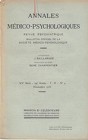 Annales médico-Psychologiques - Revue Psychiatrique - Bulletin: I. Kant, Artur,