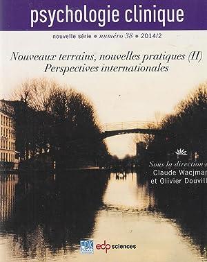 Psychologie clinique - nouvelle série - numéro: Olivier Douville, Claude