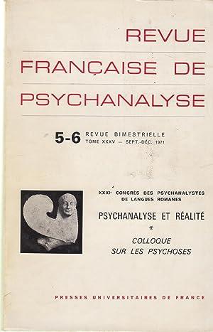 Revue Française de Psychanalyse - Tome XXXV: Evelyne Kestemberg, Jean