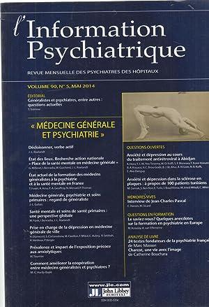 L'Information Psychiatrique - Revue mensuelle des Psychiatres: T. Trémine, J.-L.