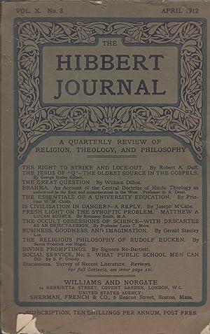 The Hibbert Journal - A quarterly review: Robert A. Duff,