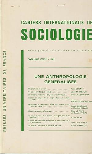 Cahiers Internationaux de Sociologie - Volume LXXIII: Rémi Clignet, David