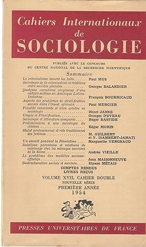 Cahiers Internationaux de Sociologie - Volume XVII,: Paul Mus, Georges