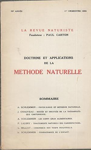 La Revue Naturiste - Doctrine et Applications: A. Schlemmer, J.