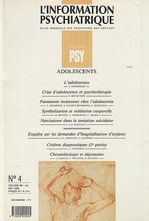 L'Information psychiatrique - Revue mensuelle des Psychiatres: Y. Knibiehler, H.