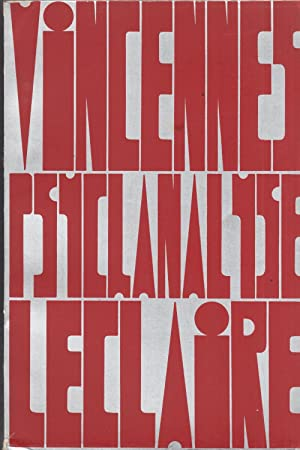 Vincennes Psychanalyse Leclaire Séminaires 1969 Centre Universitaire: Serge Leclaire [Jacques