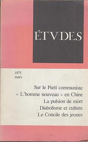 Études - Mars 1975 - Sur le: Pierre Rondot, Léon