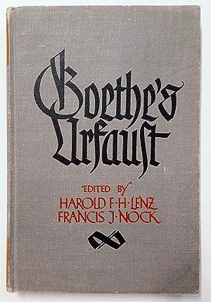 Goethe's Urfaust: Lenz, Harold F.