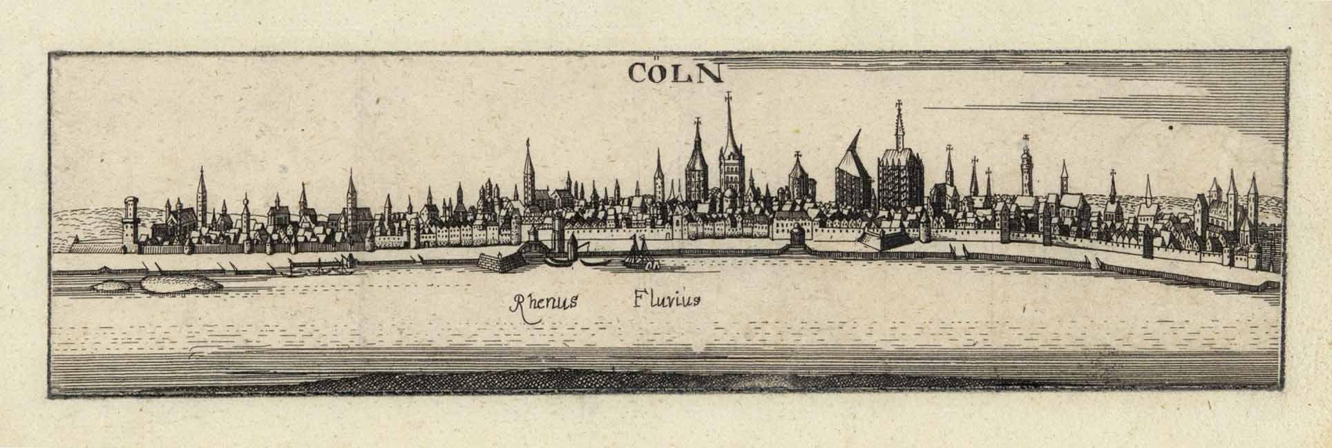 Gesamtansicht über den Rhein ('Cöln - Rhenus: KÖLN: