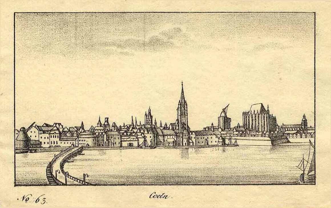 Gesamtansicht über den Rhein ('Coeln. - No.: KÖLN: