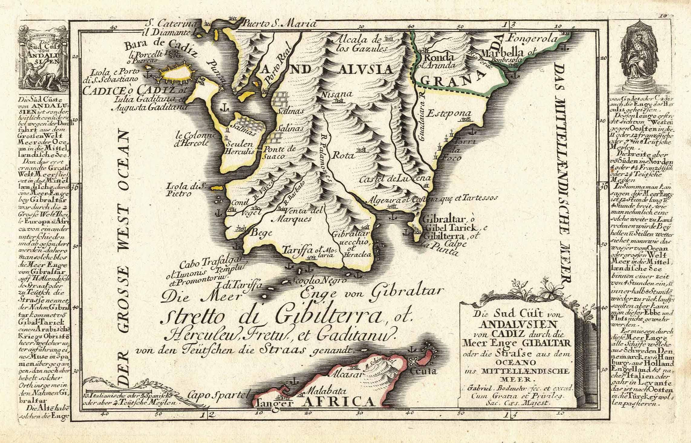 Karte Andalusien Cadiz.Die Sud Cüst Von Andalusien Von Cadiz Durch