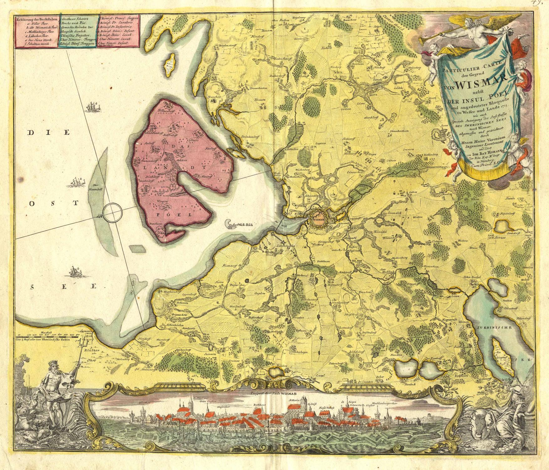 Karte Insel Poel Und Umgebung.Gesamtansicht Daruber Karte Des Grossraums