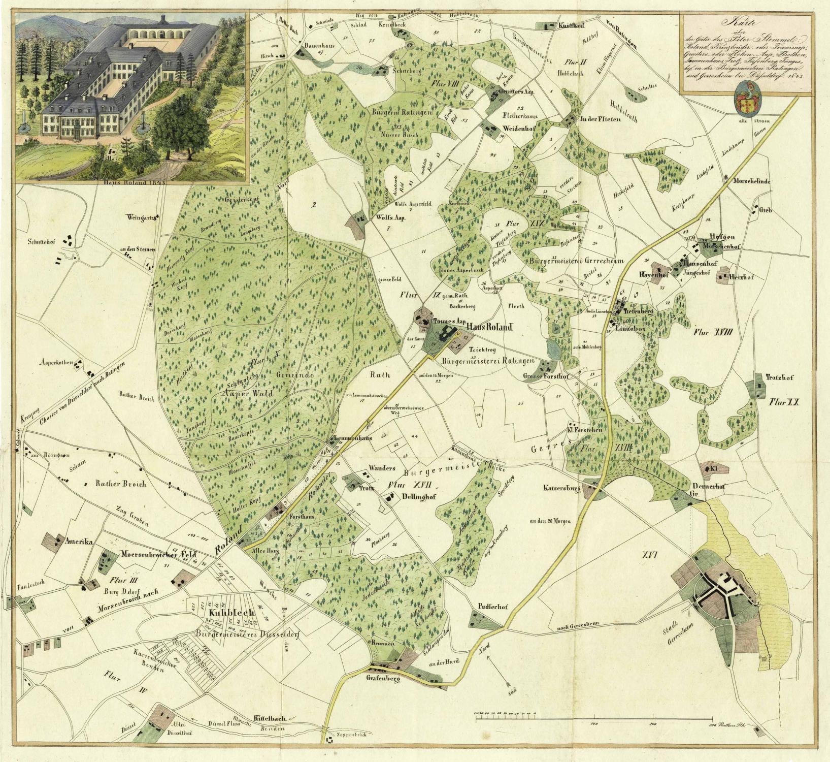 Düsseldorf Karte.Karte über Die Güter Des Peter Stommel