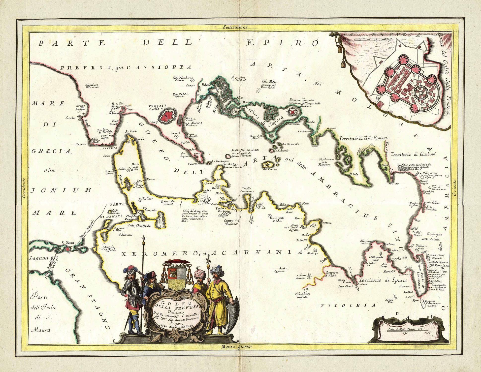 Golfo Della Prevesa, Dedicato Dal P. Cosmografo: PRÉVEZA (Prévesa) /
