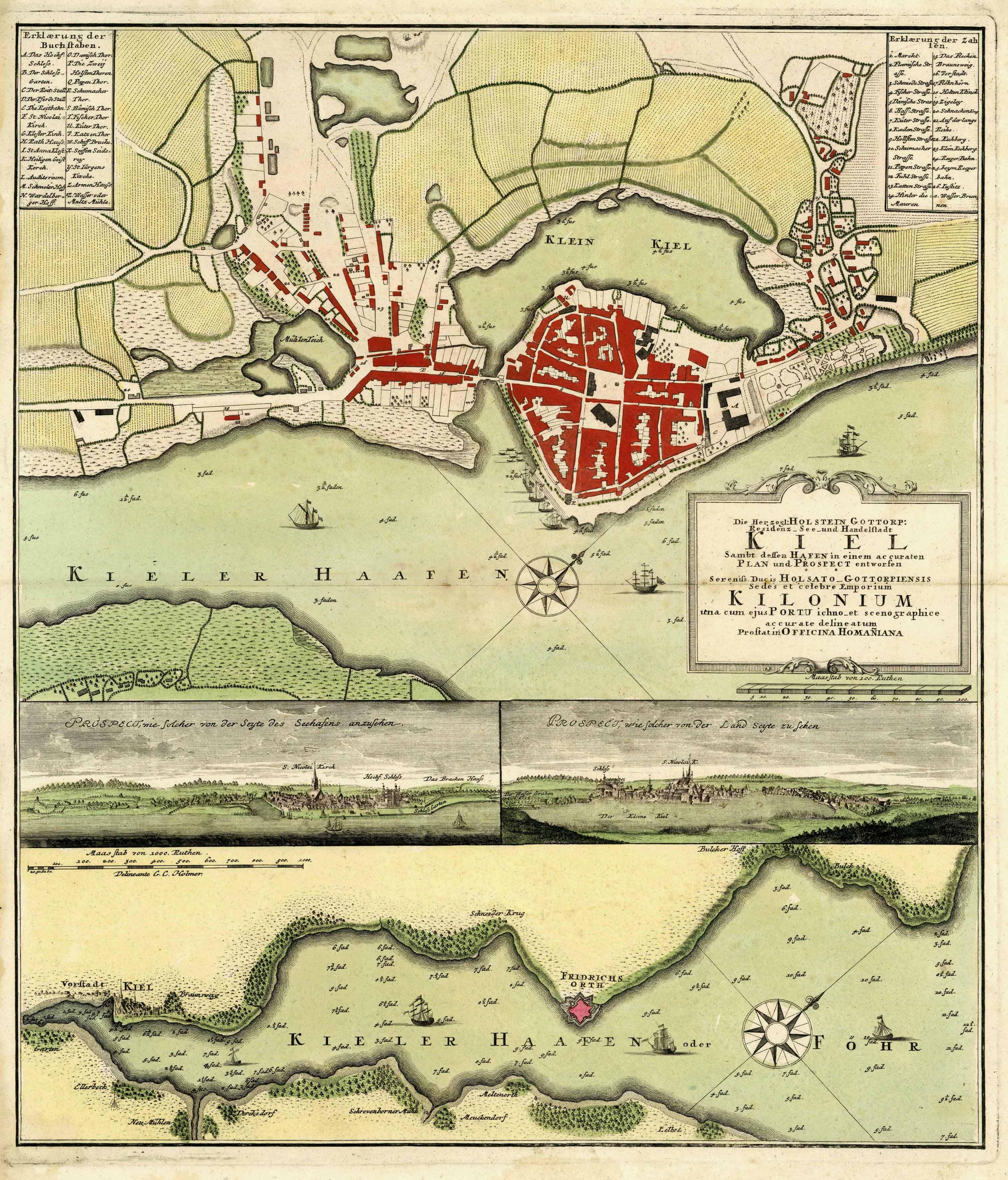 Kieler Bucht Karte.Vialibri Stadtplan Gesamtansichten Und Karte Der Kieler Förde