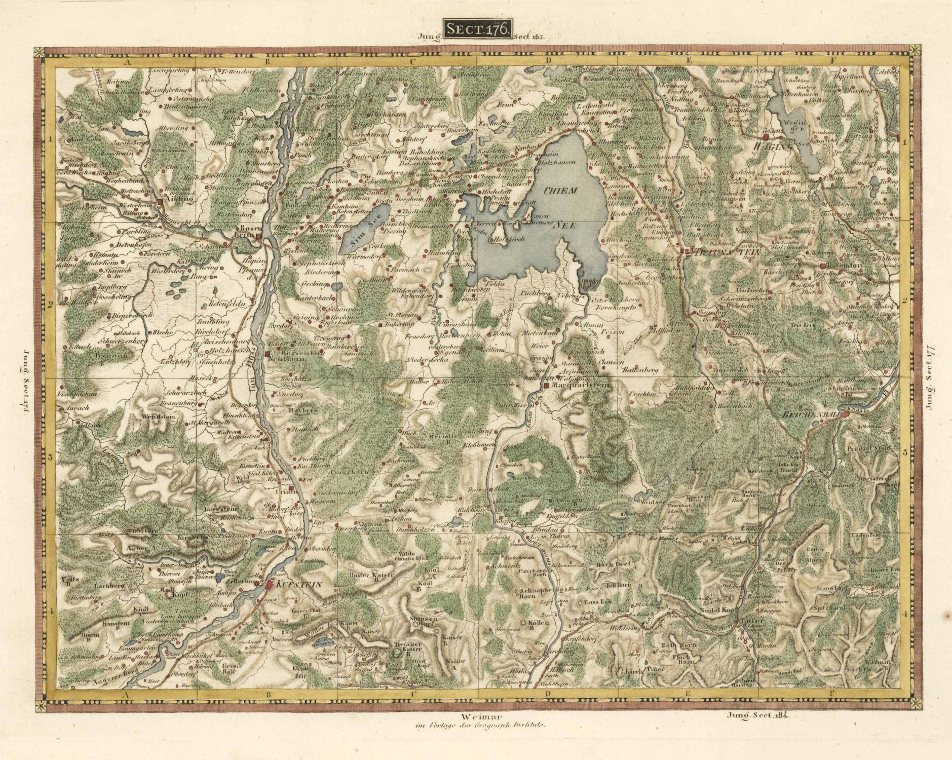 Chiemsee Karte.Topographisch Militärische Spezial Karte Von Von Chiemsee Zvab