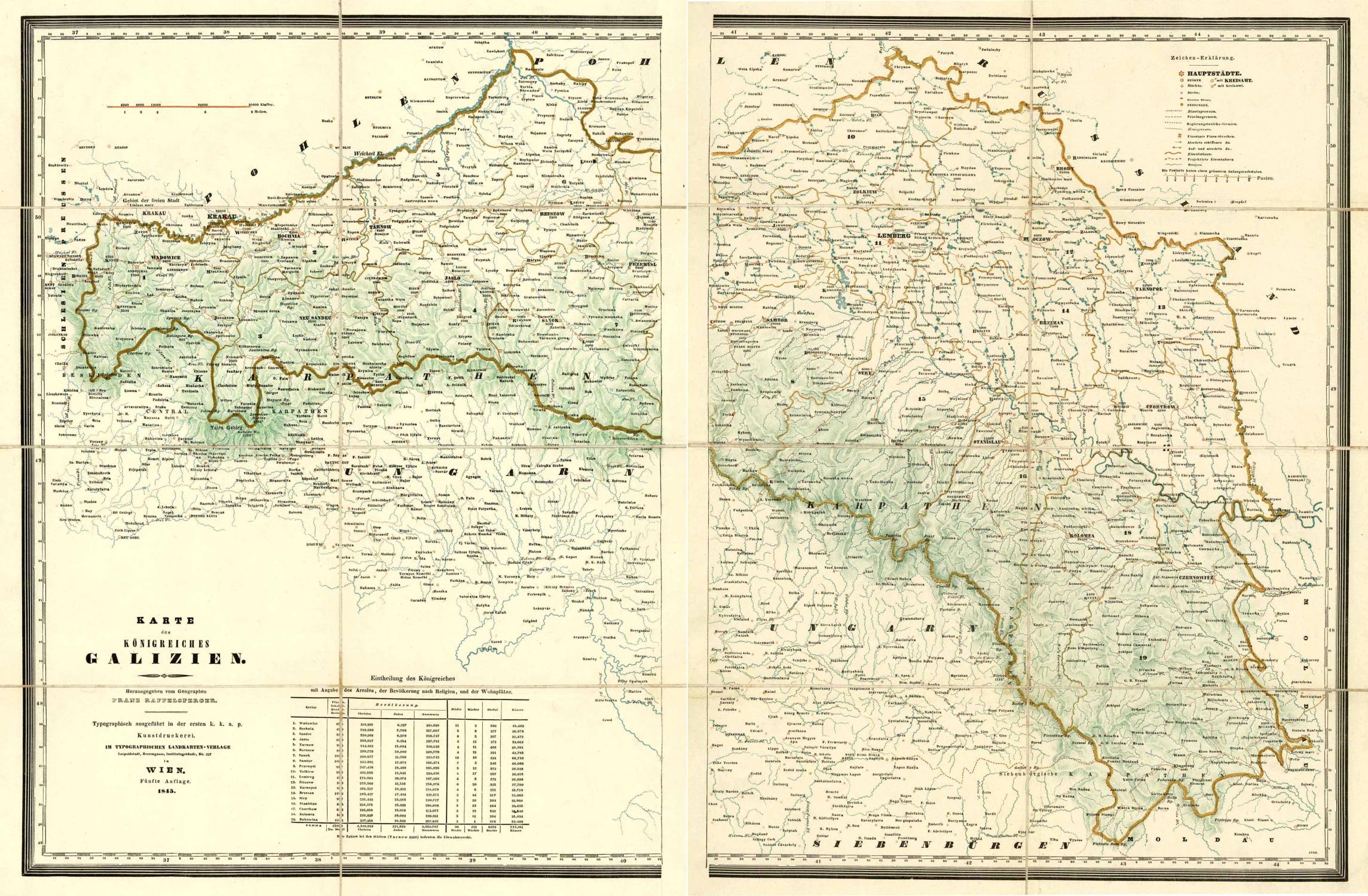 Galizien Karte.Karte Des Königreiches Galizien