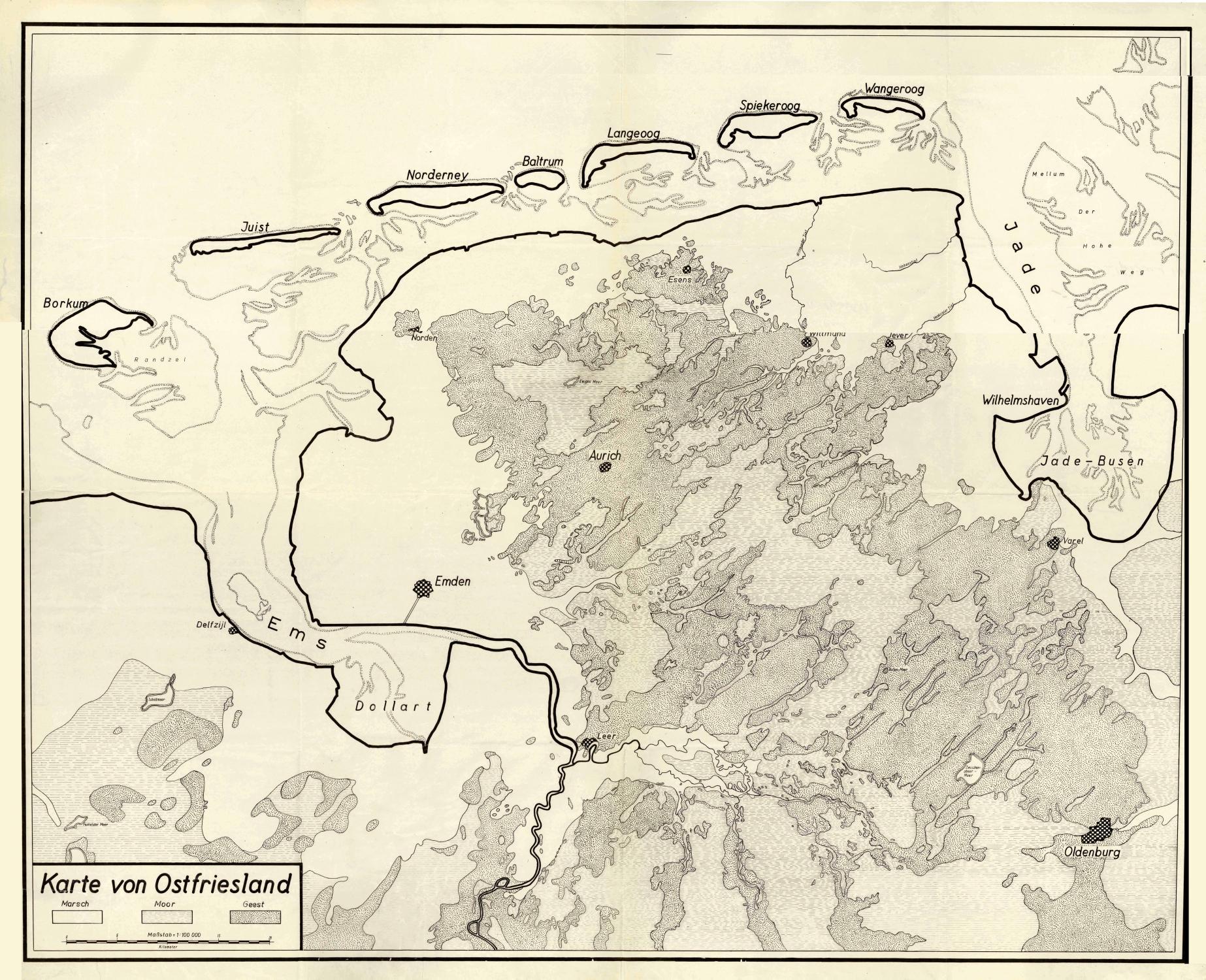 Karte Von Ostfriesland Von Ostfriesland Karte Antiquariat