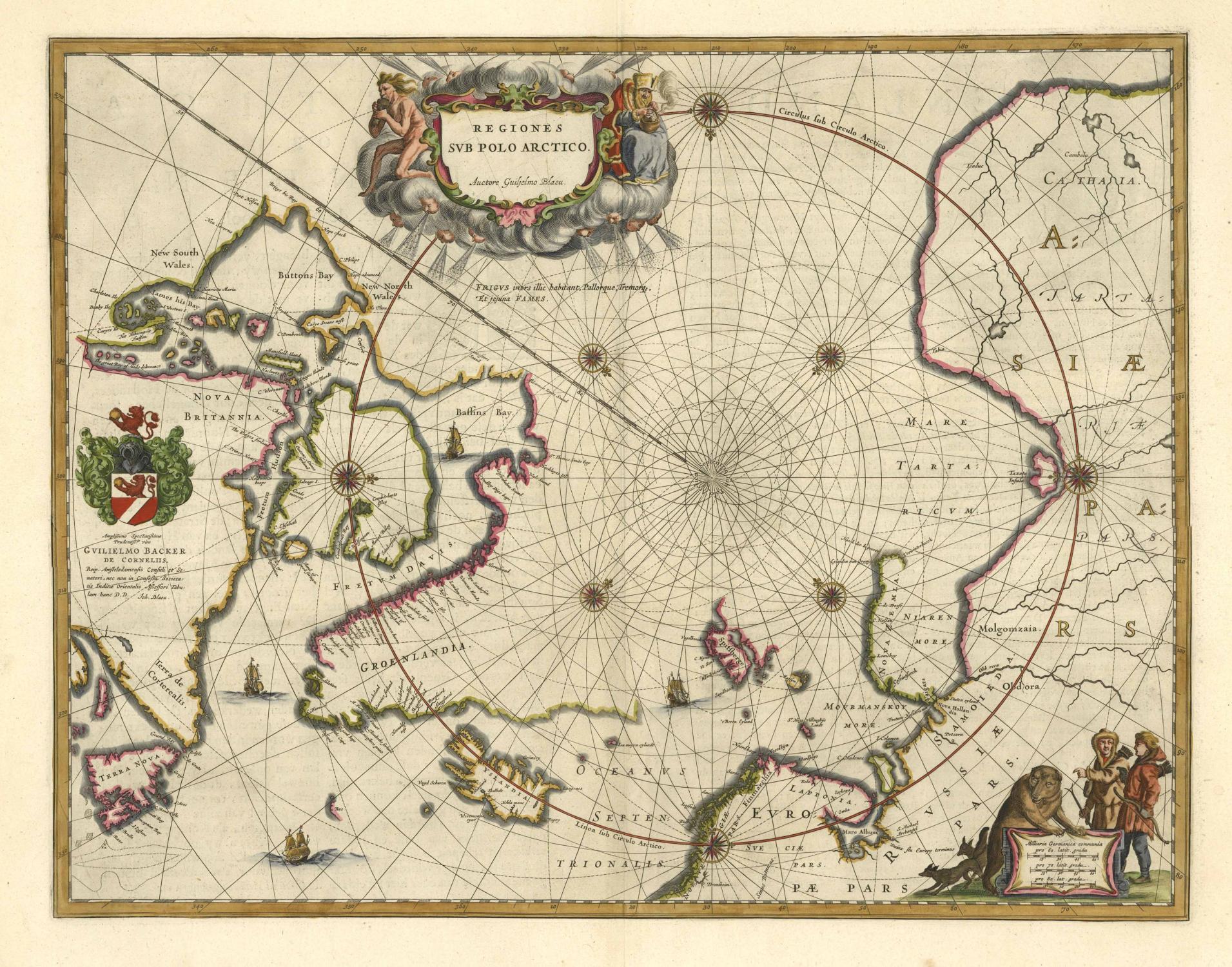 Nordpolarmeer Karte.Regiones Svb Polo Arctico Auctore Guiljelmo