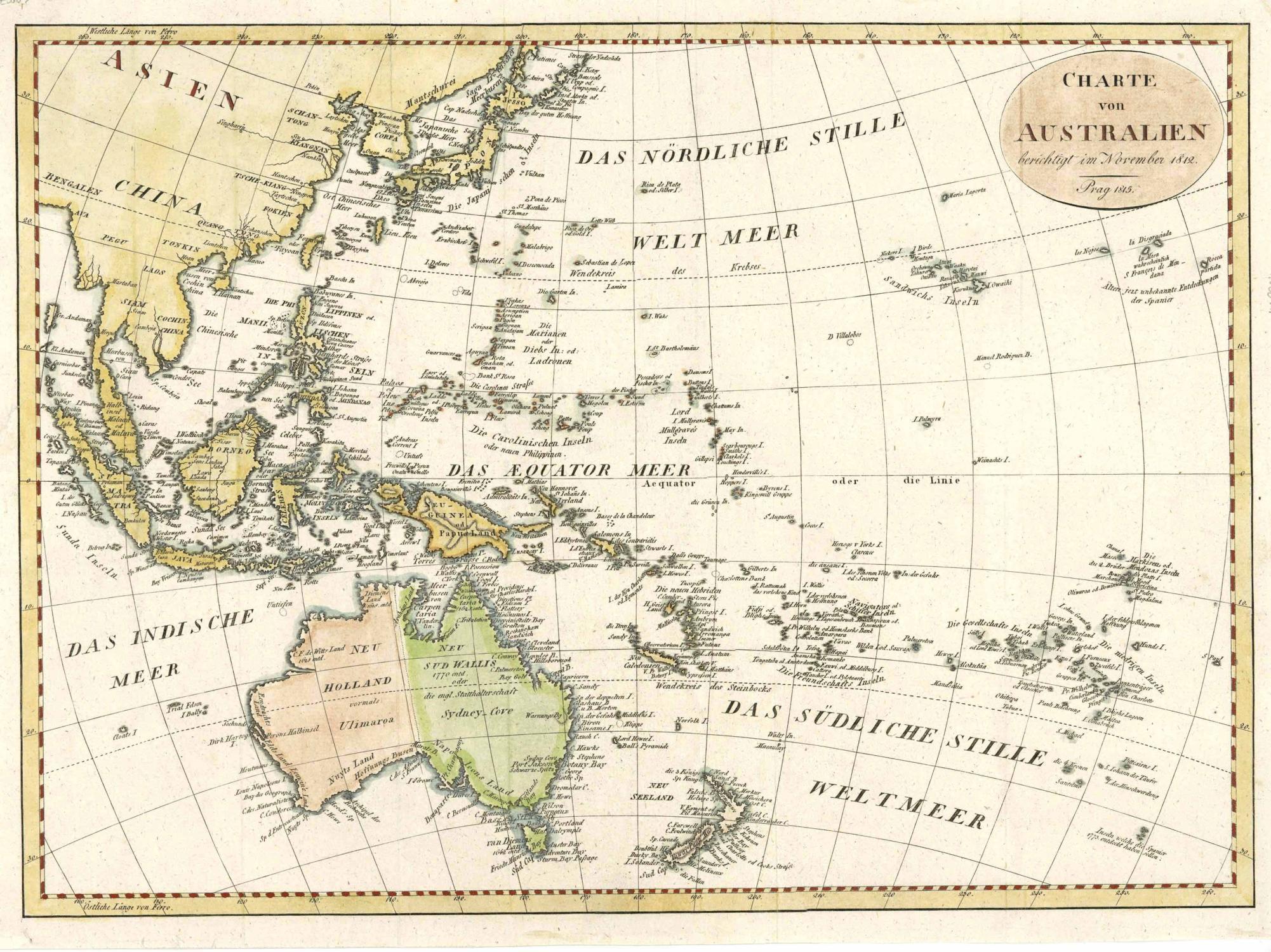 Australische Land datiert