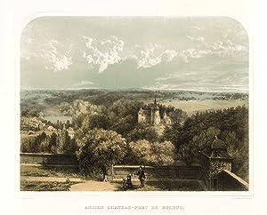 Ansicht von der Abtei Klosterrath auf Herzogenrath ('Ancien Chateau-Fort De Rolduc').: ...