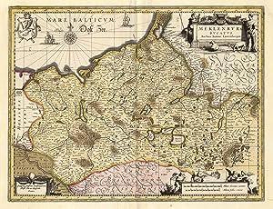 Meklenburg Ducatus Auctore Ioanne Laurenbergio. Sumptib. Janssonio-Waesbergiorum,: MECKLENBURG: