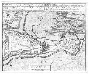 Befestigungsplan von Limbourg u. Dolhain ('Limburg, een: LIMBOURG (Limburg) an