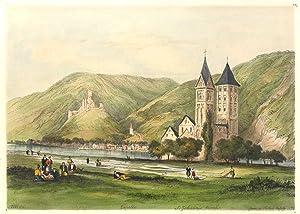 St. Johanniskirche im Vgr. mit Blick über den Rhein auf Kapellen u. Stolzenfels ('IDG - ...
