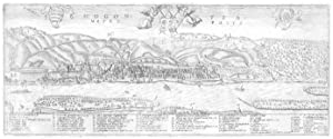 Panoramaansicht über den Rhein gesehen ('Mogontia Metropolis').: MAINZ: