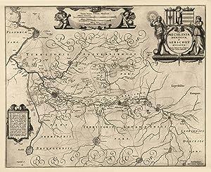 Mechlinia Dominium, et Aerschot Ducatus Auctore Michaele: MECHELEN (Malines) /