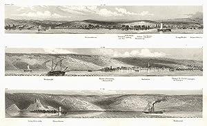 Panorama von Geisenheim bis Niederwald, Schönborner Aue,: GEISENHEIM: