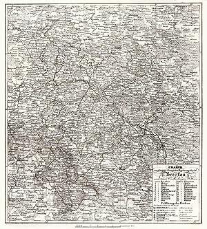 Charte vom Königlich Preussischen Regierungsbezirk Breslau nach: BRESLAU (Wroclaw) /