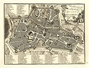 Stadtplan mit Erklärungen ('A Plan of the City of Augsburg').