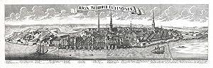 Panorama der Stadt Riga ('Riga, Metropolis Livoniae').: RIGA (Lettland /