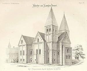 Kirche ('Kirche zu Langenhorst - Perspectivische Ansicht: OCHTRUP: Langenhorst: