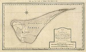 Kort over Anholt. Under det Kongelige Videnskabernes: ANHOLT (Dänemark /