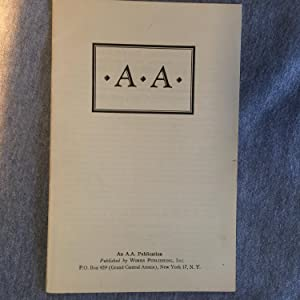 A.A.- Alcoholics Anonymous Foundation Pamphlet