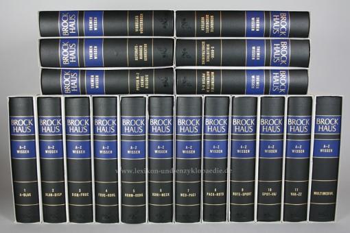 Brockhaus A-Z Wissen & Themenwissen, 18 Bände (2010/2012) | Neuzustand (im Schuber)
