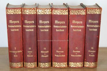 Meyers Konversations-Lexikon 6.Auflage Eichenlaub, Band 14 (Mittewald - Ohmgeld), 1906 | Exemplar 1