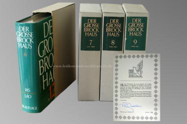 Der Große Brockhaus 18. Auflage, Nummer 743/980, 15 Bände (u.a. Karten, Bildwö...