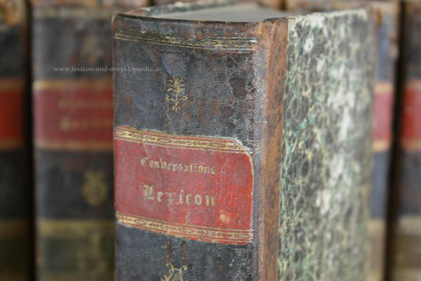 Brockhaus Conversations-Lexikon 6. Auflage, in zehn (10) Bänden, 1824 (II): Brockhaus, ...