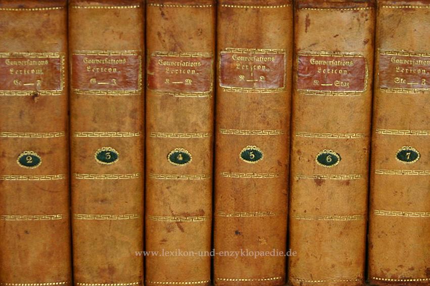 Macklot, Conversations-Lexicon oder encyclopädisches Handwörterbuch, 9 Bände (incl. ...