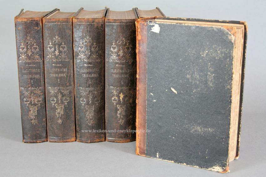 Brehms Illustriertes Thierleben / Tierleben, Erstausgabe, 6 Bände, 1864-1869 (I): Brehm, ...