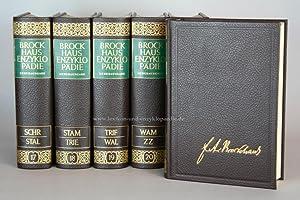 Brockhaus Enzyklopädie 17. Auflage, 24 Bände (Band 1-24) Ganzleder / Echt-Leder, ...