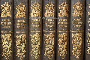 Pierers Universal-Lexikon der Gegenwart und Vergangenheit 3. Auflage, 17 Bände, 1849-1852 (I):...