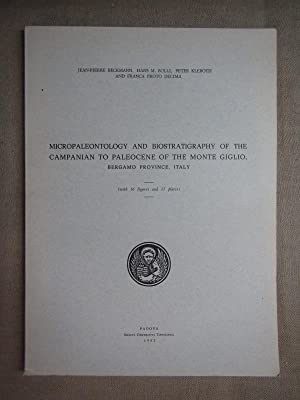 Micropaleontology and biostratigraphy of the Campanian to: Beckmann Jean-Pierre, Bolli
